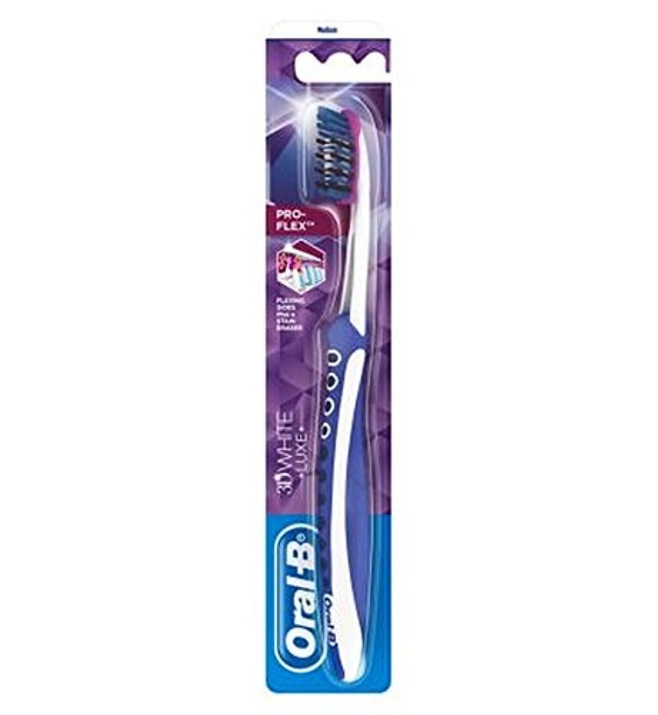 時間厳守座るあまりにもオーラルB手動歯ブラシ3Dwhiteリュクスプロフレックスメディア (Oral B) (x2) - Oral-B Manual Toothbrush 3DWhite Luxe Pro Flex Medium (Pack...