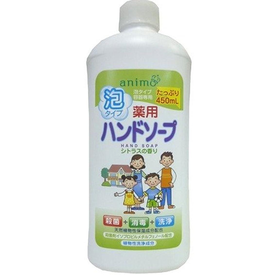 ペフ論理恐れロケット石鹸 薬用泡ハンドソープ シトラス 詰替用 ボトル 450ML