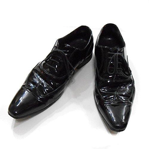 (ディーアンドジー) D&G エナメル ドレス シューズ 黒 40ハーフ ディーアンドジー メンズ 25.5cm (中古)