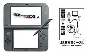 【Amazon.co.jp限定】 【New3DS / LL対応 USB充電ケーブル付】New ニンテンドー3DS LL メタリックブラック