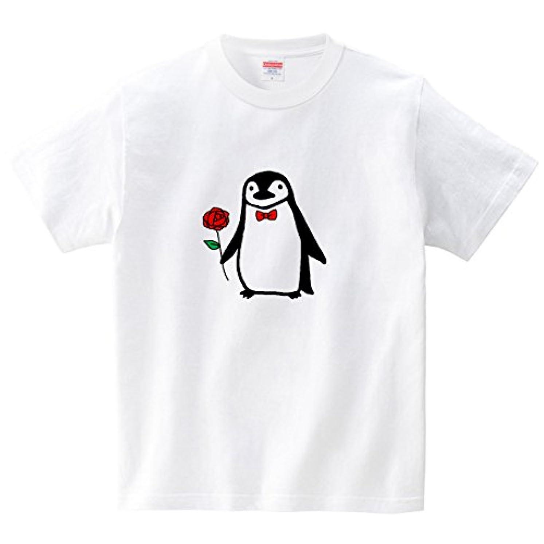 略奪高音原始的なおめかしヒゲペンギン(Tシャツ?ホワイト) (あおまんぼう)