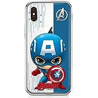 マーベル アベンジャーズ MARVEL Avengers かわいい 透明 柔らかい ゼリー カバー Cutie Clear Jelly Case (Samsung Galaxy S20+ Plus, キャプテン アメリカ Captain America) [並行輸入品]