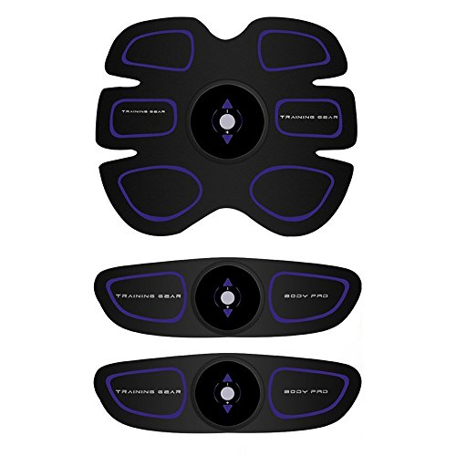 多機能 EMS 腹筋 Ecivan EMS腹筋ベルト 腹筋トレ 腹筋マシン 背筋 側筋 ダイエット マッサージ痩身 自動的に腹筋 8段階調節 男女兼用 USB充電式 (purple)