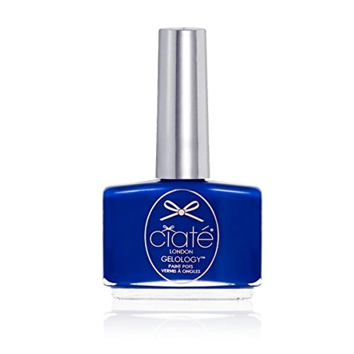 ネクタイ中央の間で[ciate] [シアテロンドン ] ジェルロジープールパーティー(カラー:マリンブルー)-GELOLOGY-POOL PARTY シアテロンドン ジェルポリッシュ 色:マリンブルー ネイルカラー系統:ブルー(青)