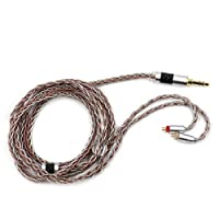 TRIPOWIN C8オーディオHIFIステレオ8本銅箔糸と銀箔糸で編み軽量イヤホンアップグレードケーブル 3.5/2.5/4.4mmプラグと0.78mm2pinとびMMCX及びQDCコネクターを搭載 Westone QDC TRN TINHIFI KZ BGVP AUGLAMOUR MAGAOSI LZAudio TONEKING SHOZY SHURE SE215 SE846 SE425 SE535 SE315 など多種のイヤホンとアンプ及び音楽プレーヤーに対応できアップグレードケーブル (3.5mm-0.78mm2pin)