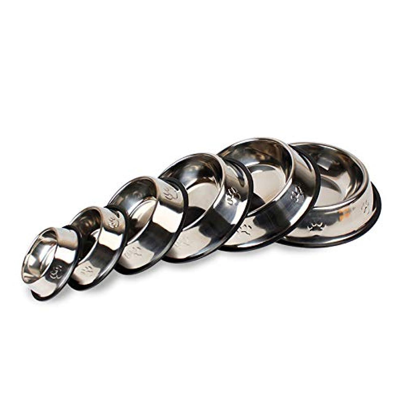 LIFEHoomall 1ピースステンレス鋼ペットボウル用犬子犬猫食品水犬フィーダペットアクセサリー給餌料理犬ボウル6サイズペット食器
