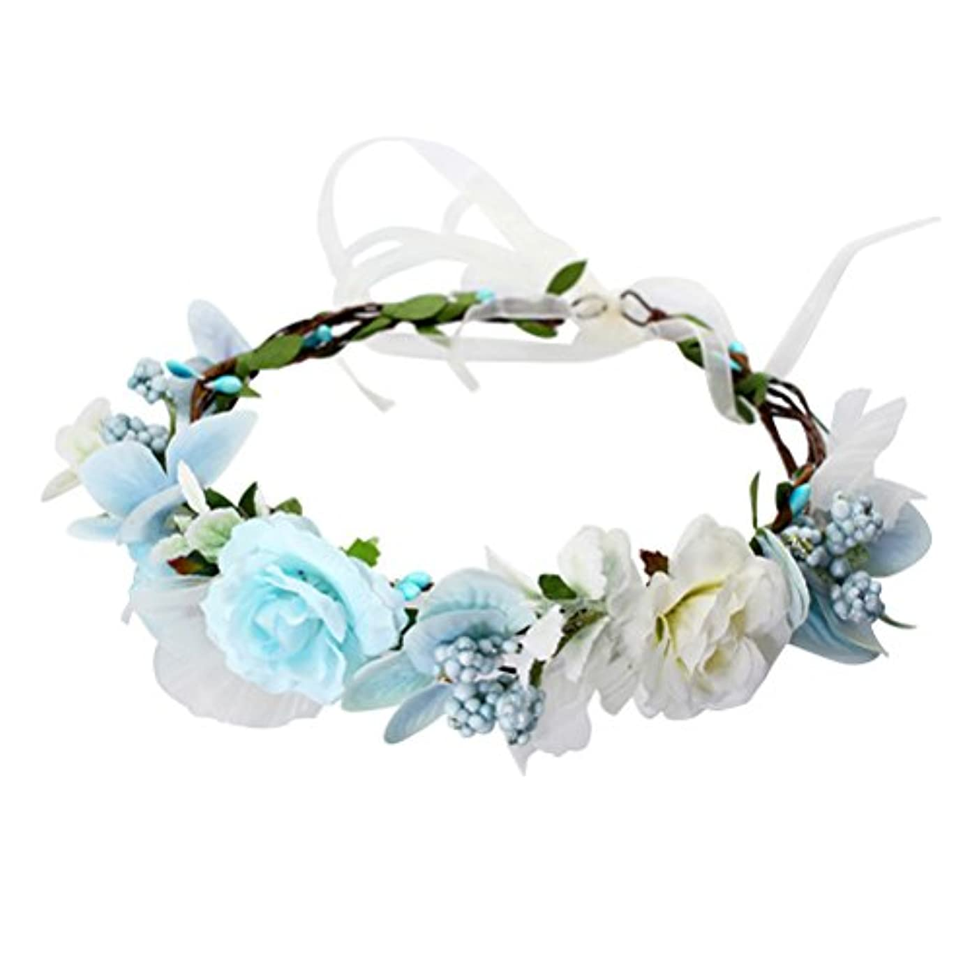 昼間結晶歯車WINOMO 花かんむり 花冠 花飾り ヘアアクセサリー ブライダル ウェディング 結婚式 花嫁 写真 発表会