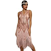 PrettyGuide Women's 1920s Charleston Dress Inspired Fringed Gatsby Dress