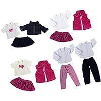 SONONIA  5スーツ  衣類セット  Tシャツ  ジーンズ  プリーツスカート  18インチアメリカンガールドール用