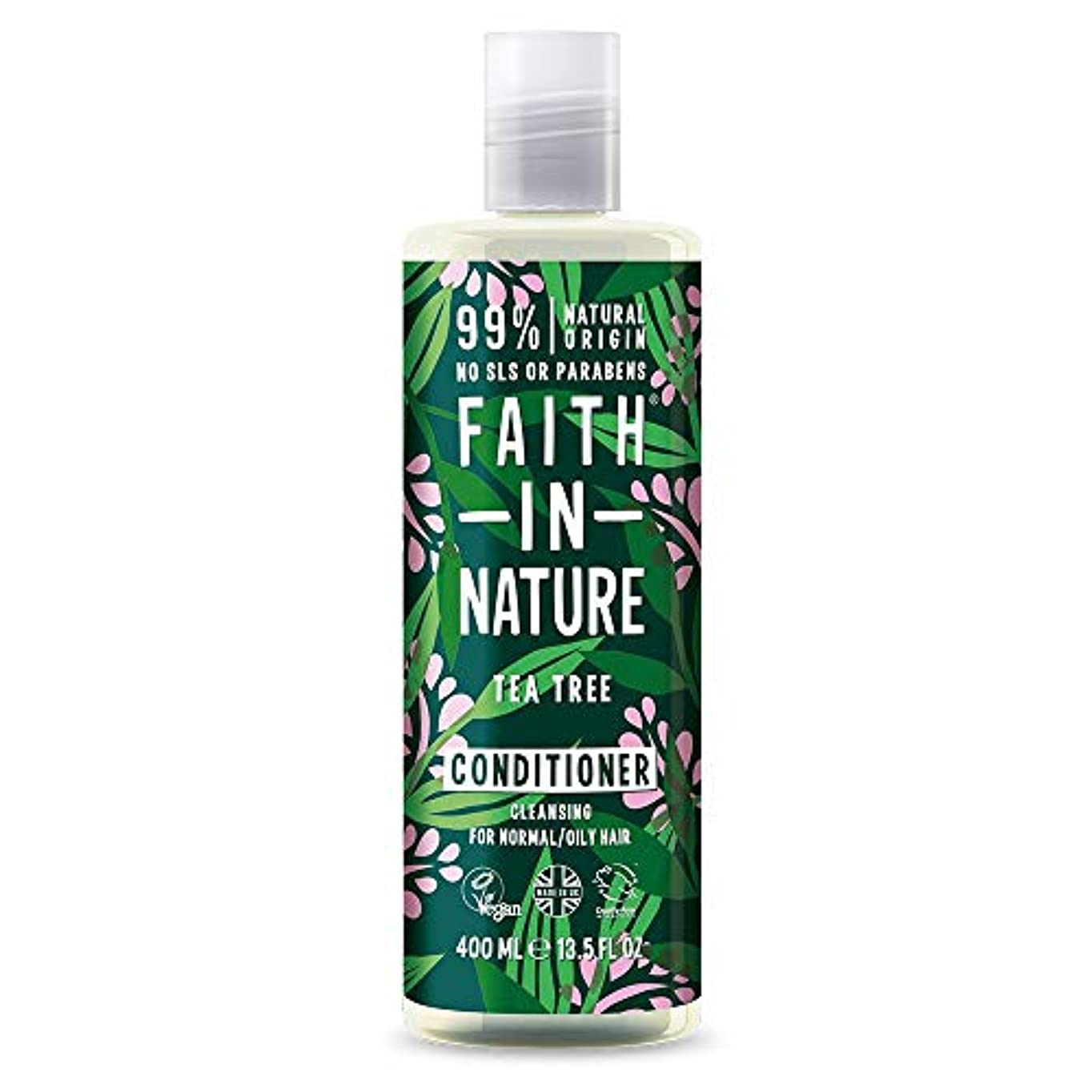 請負業者安定しました必須Faith In Nature Tea Tree Deep Cleansing Conditioner Normal To Greasy Hair 400ml