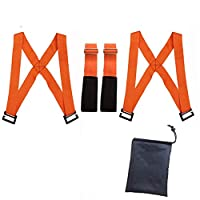 引っ越しベルト 運搬ベルト 家具移動アームストラップ キャリーベルト 補助ベルト持ち運び便利ベルト 荷物 大掃除 引っ越し搬台 丈夫 簡単取り付け (オレンジ)