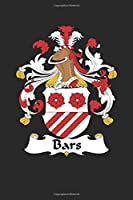 Bars: Bars Coat of Arms and Family Crest Notebook Journal (6 x 9 - 100 pages)