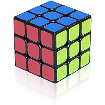 EnacFire スピードキューブ 回転スムーズ 立体パズル ポップ防止 世界基準配色