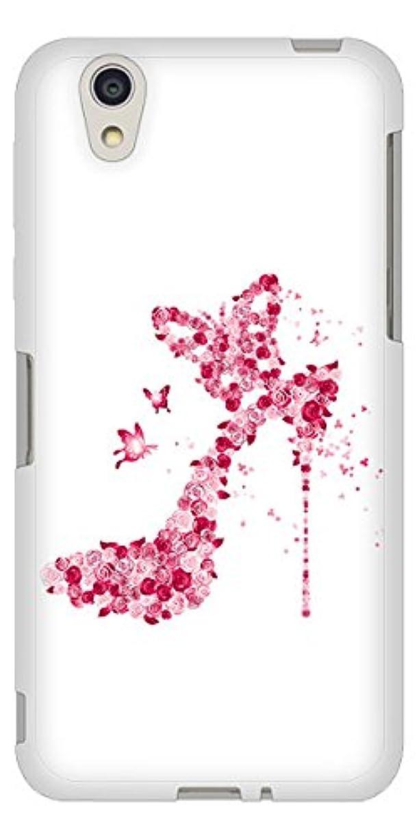 みなさんリテラシーレイプディズニー モバイル DM-01J TPU ソフトケース 387 薔薇のハイヒール 素材ホワイト【ノーブランド品】