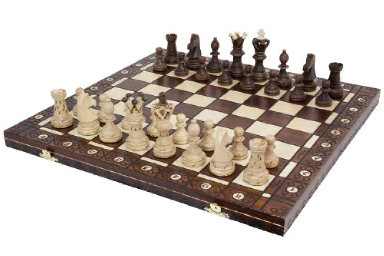 Chess Set - Ambassador High Detail European Wooden Handmade Set - 21
