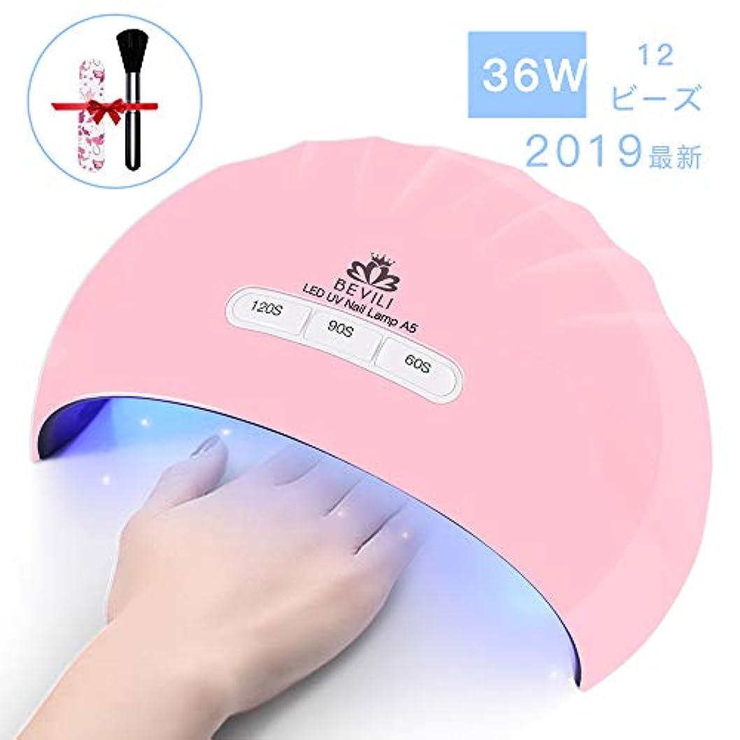 カードり湿原硬化用UV/LEDライトジェルネイルライト 肌をケア センサータイマー付き UVライト 速乾UV ネイル ハンドフット両用 ネイル led ライト USB対応 (ピンク)