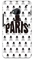 SECOND SKIN Code;C 「PARIS」 ホワイト (クリア) / for HTC J One HTL22/au AHTL22-PCCL-277-Y455