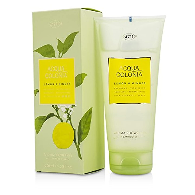 広い適用済み取得する4711 アクア コロニア レモン&ジンジャー アロマシャワージェル 200ml/6.8oz並行輸入品