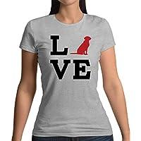 Love Labrador Dog Silhouette - Womens T-Shirt - 13 Colours