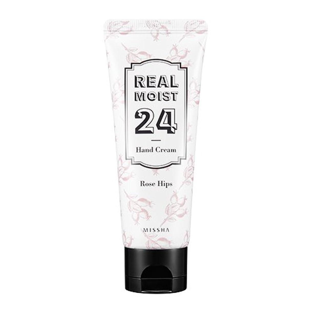 開いた家具富[New] MISSHA Real Moist 24 Hand Cream 70ml/ミシャ リアル モイスト 24 ハンドクリーム 70ml (#Rose Hips Oil)