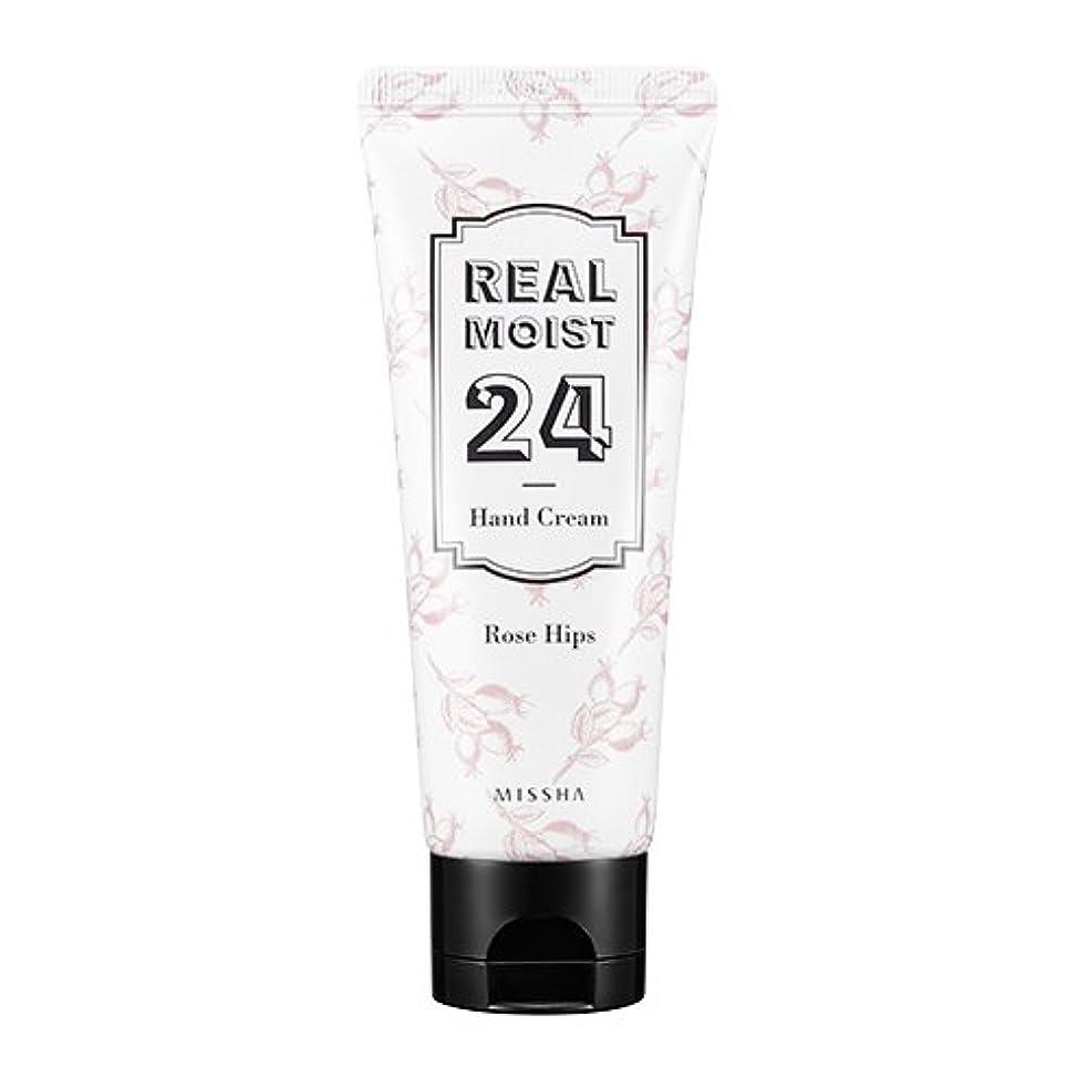 背が高い水銀のよろしく[New] MISSHA Real Moist 24 Hand Cream 70ml/ミシャ リアル モイスト 24 ハンドクリーム 70ml (#Rose Hips Oil)