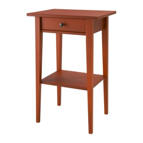 IKEA(イケア) HEMNES レッド 40181522 ベッドサイドテーブル、レッド