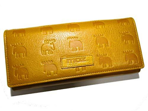 (moz) モズ レディース 財布 ラウンド 牛革 かわいいヘラジカ(エルク)のイレギュラーデザイン プレゼントにも最適 (The Little)