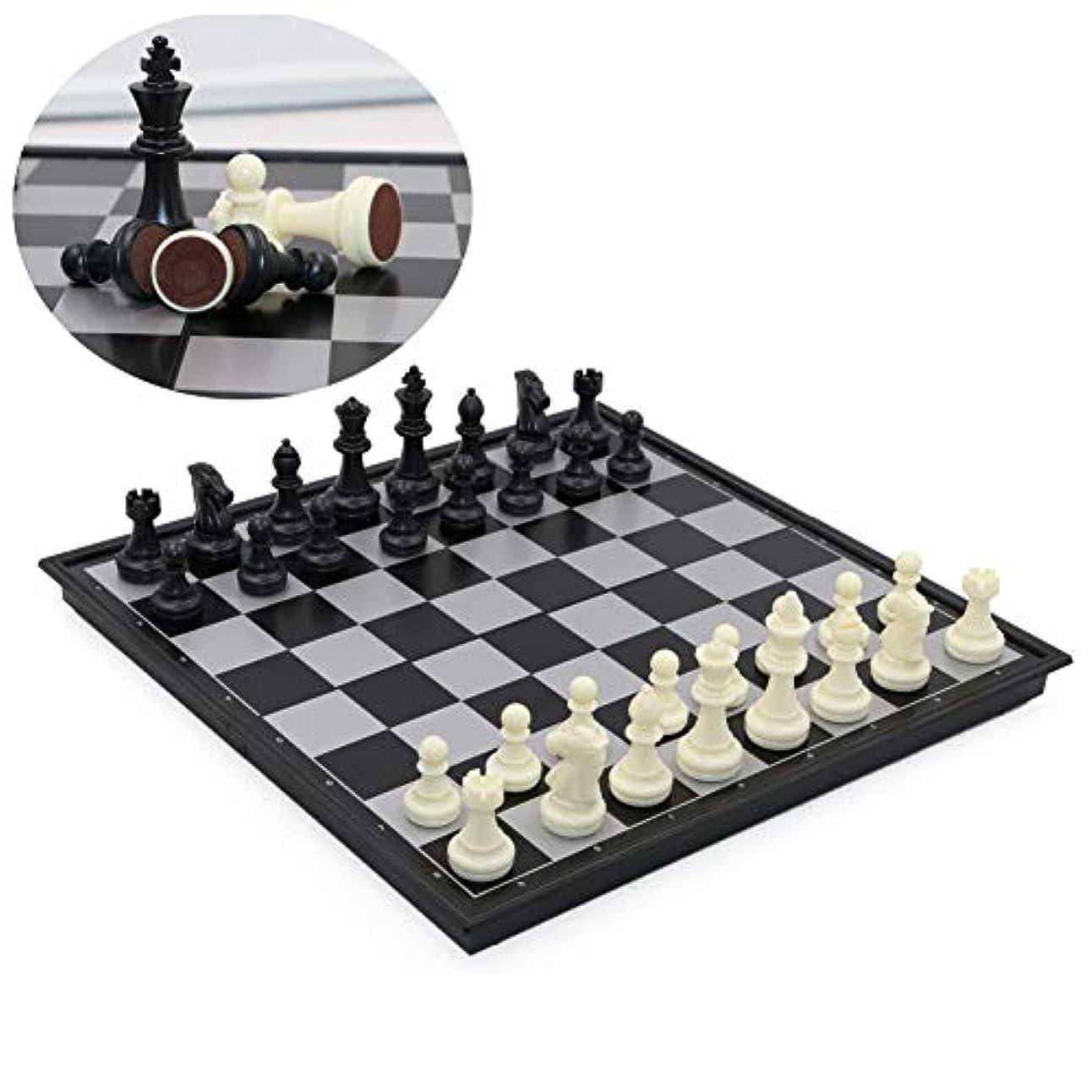 カエル流用する土曜日Portabel International Chess Board Ambassador Set with Magnetic Base for Kid, Small, 9.8