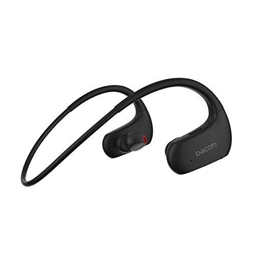 DACOM Bluetooth イヤホン ワイヤレス スポーツ ランニング 高音質 IPX7防水規格 両耳 耳掛け式 液体シリコン 装着感快適 ヘッドホン ブルートゥース ヘッドセット 無線 iPhone、Android各種対応 [メーカー1年保証] (ブラック)