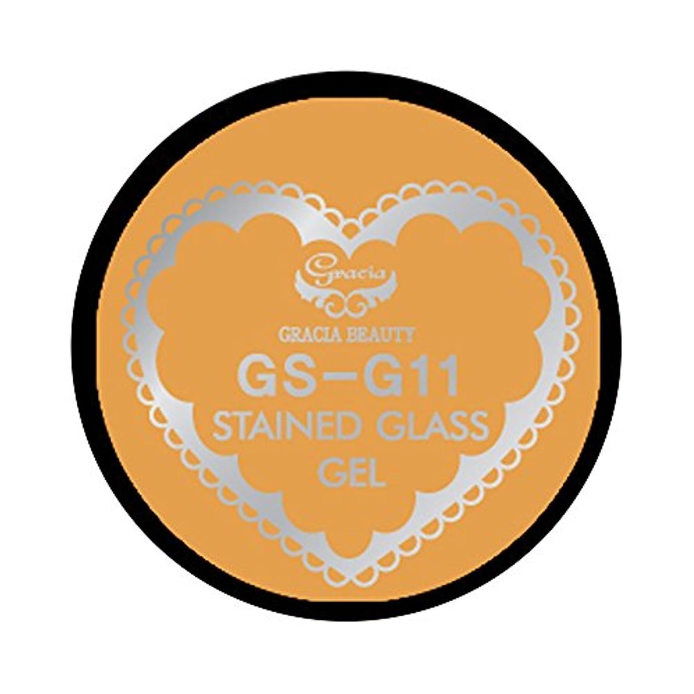 モデレータビスケットマニアグラシア ジェルネイル ステンドグラスジェル GSM-G11 3g  グリッター UV/LED対応 カラージェル ソークオフジェル ガラスのような透明感