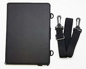iPad Air2用レザースタンドケース ベルト付き ビジネスモデル BI-IPAD6BTCASE/BK(ブラック)