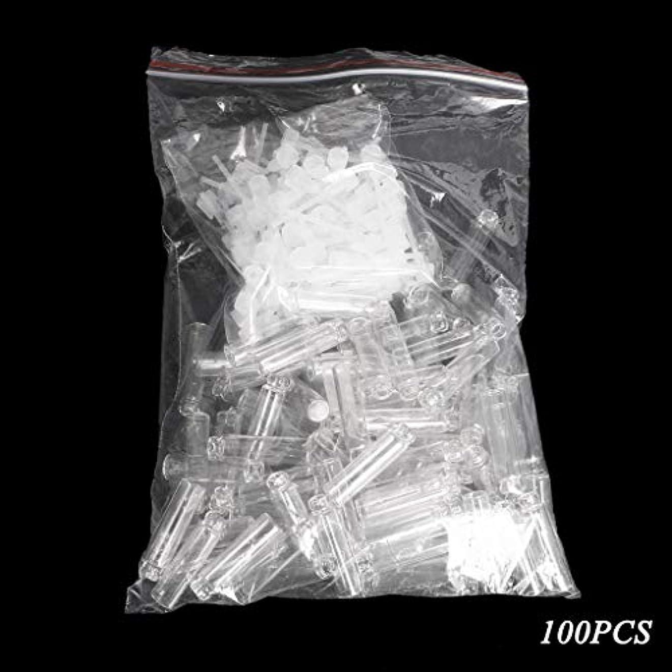 失礼通行人倒錯Dabixx 100個/ロットの小型化粧品の香水の精油のサンプルガラスビンの容器 - 透明(1ml) - 100個