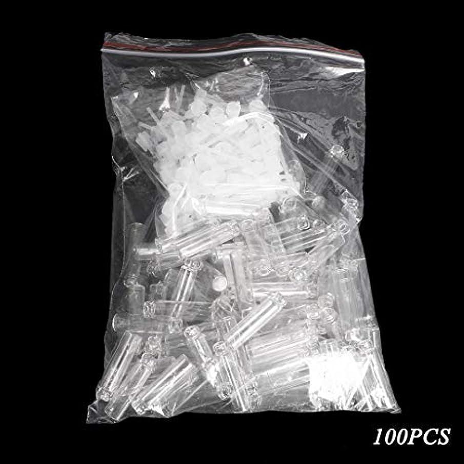 強化動物担当者Dabixx 100個/ロットの小型化粧品の香水の精油のサンプルガラスビンの容器 - 透明(1ml) - 100個