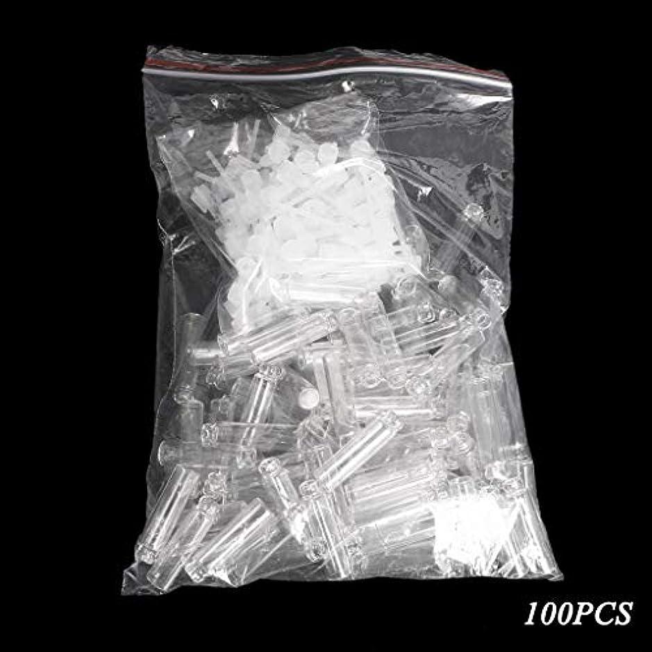 宣伝ハードウェア成功Dabixx 100個/ロットの小型化粧品の香水の精油のサンプルガラスビンの容器 - 透明(1ml) - 100個