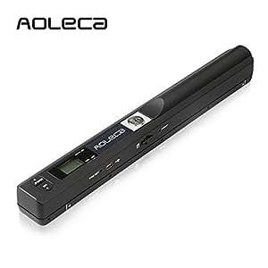 Aoleca ハンディスキャナJPEG PDF OCRスキャナ 名刺 A4 写真種類を簡単データ化 自炊対応 携帯式ハンディスキャナー ポータブルスキャナー 900dpi超高画質をサポート可能[A4サイズ対応] ブラック