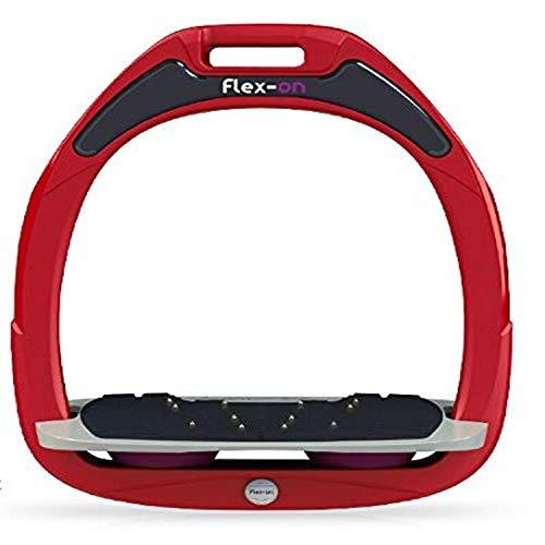 【Amazon.co.jp 限定】フレクソン(Flex-On) 鐙 ガンマセーフオン GAMME SAFE-ON Mixed ultra-grip フレームカラー: レッド フットベッドカラー: グレー エラストマー: プラム 00089