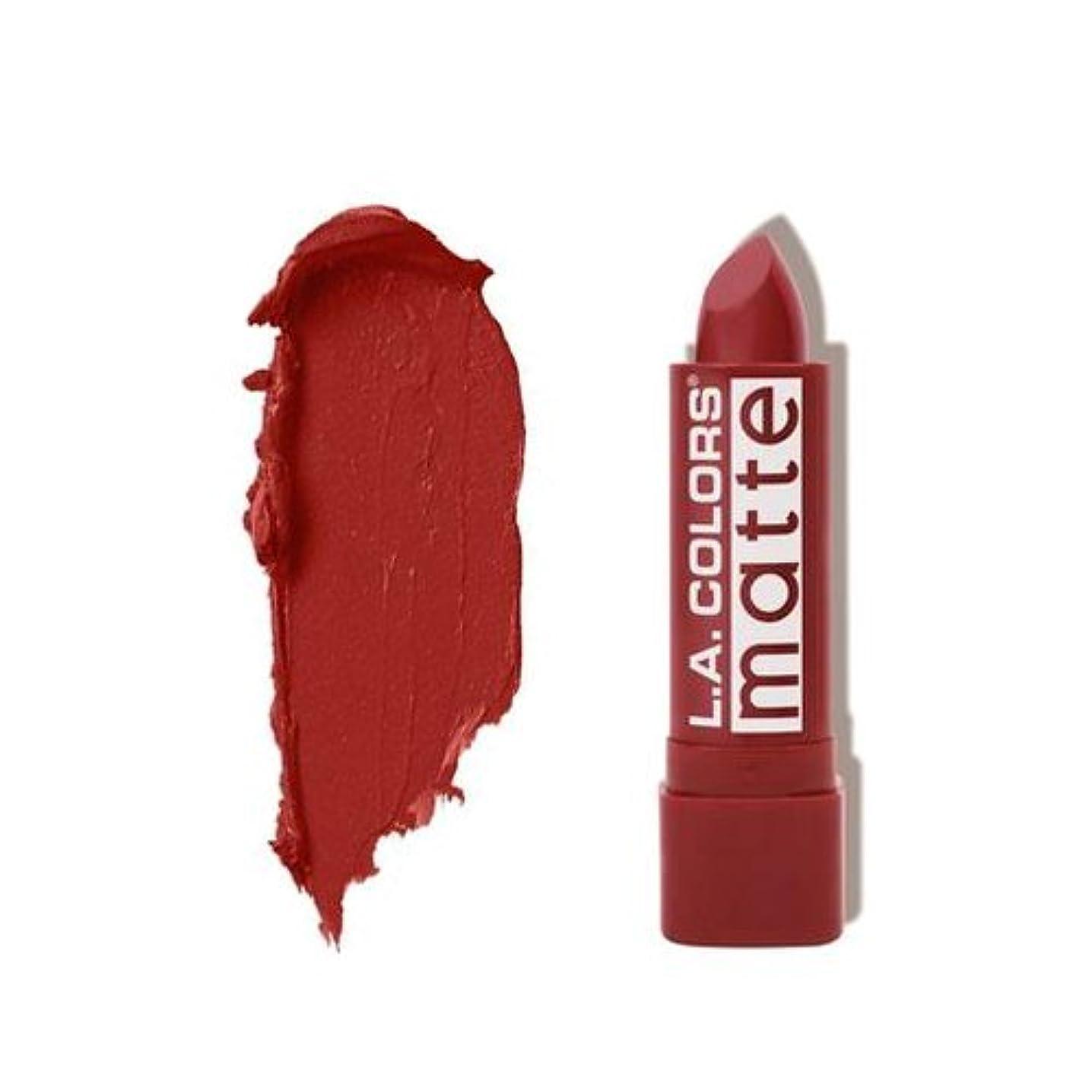 広げる外観摩擦(3 Pack) L.A. COLORS Matte Lip Color - Brick (並行輸入品)