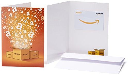 Amazonギフト券(グリーティングカードタイプ) - 3,000円 (Amazonオリジナル)