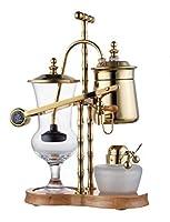 Diguo High Quality Belgian Belgium Luxury Royal Family Balance Syphon Coffee Maker Gold Color F-2013B [並行輸入品]