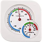 Classic Homeuse Indoor Outdoor 2 in 1 Mini Accurate Wet Hygrometer Humidity Thermometer Temperature Meter Mechanical - White