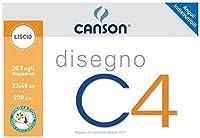 Canson 100500454スケッチブック、なめらかなフレーム、33 x 48 cm、200 G/Mq、20