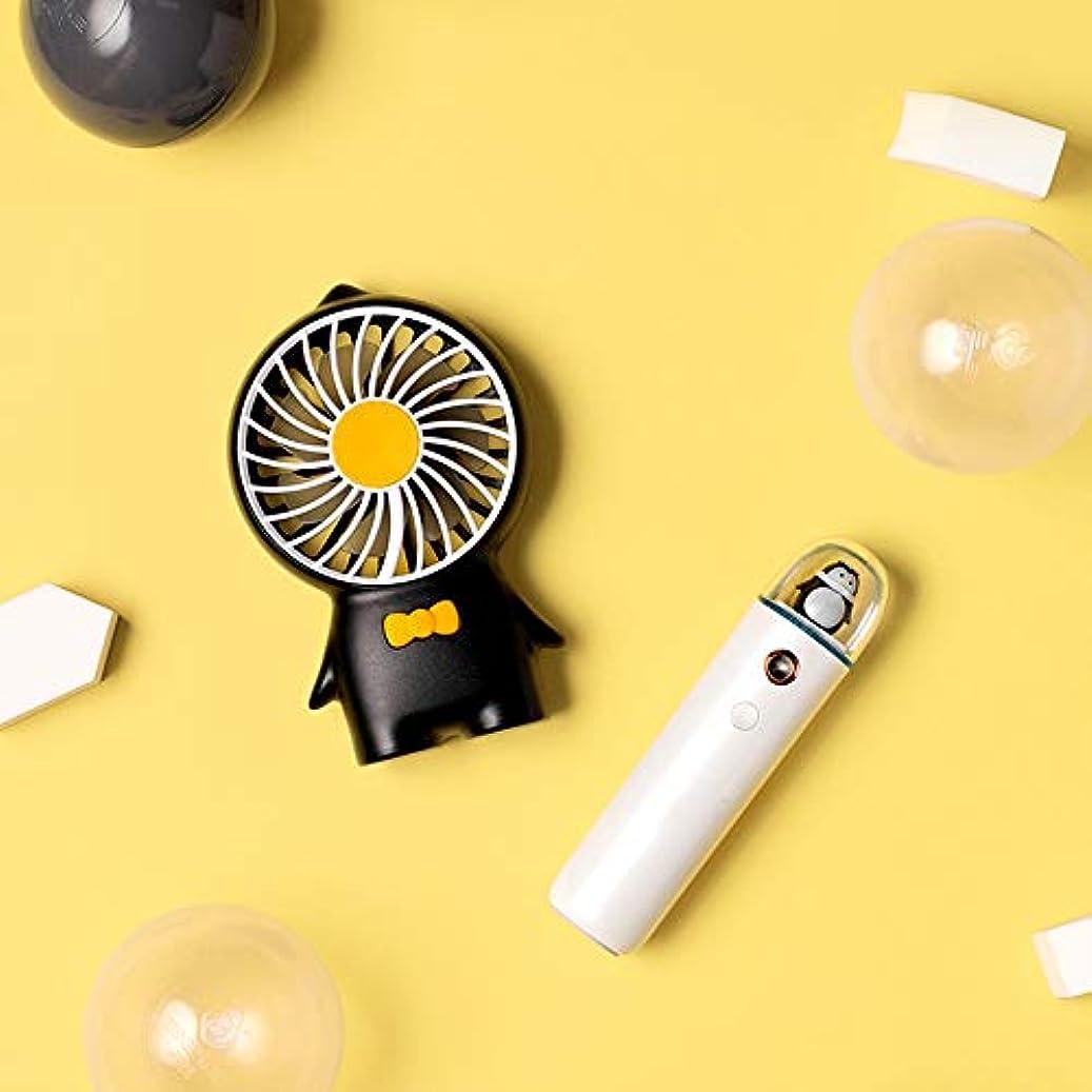 パイプボール落胆したZXF コールドスプレー水道メーターusb充電ナノスプレー小さなファン水道メーター美容機器黒モデルホワイトガールギフト用ガールフレンドセット 滑らかである (色 : Black)