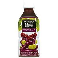 コカ・コーラ ミニッツメイド 朝の健康果実 カシス & グレープ 果汁100% ペットボトル 350ml×24本
