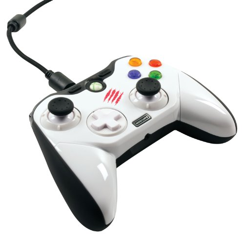 Win7/8 Xinput対応ゲーム &  Xbox 360対応   アナログスティックや方向パッドの配置を自由にカスタマイズできるゲームパッド型コントローラー Mad Catz Pro コントローラー ホワイト