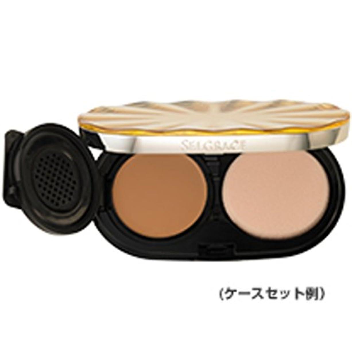 葡萄完璧神社ナリス化粧品 セルグレース ベースインパクト ファンデーション 130 ライトピンクベージュ レフィル (スポンジ付き)
