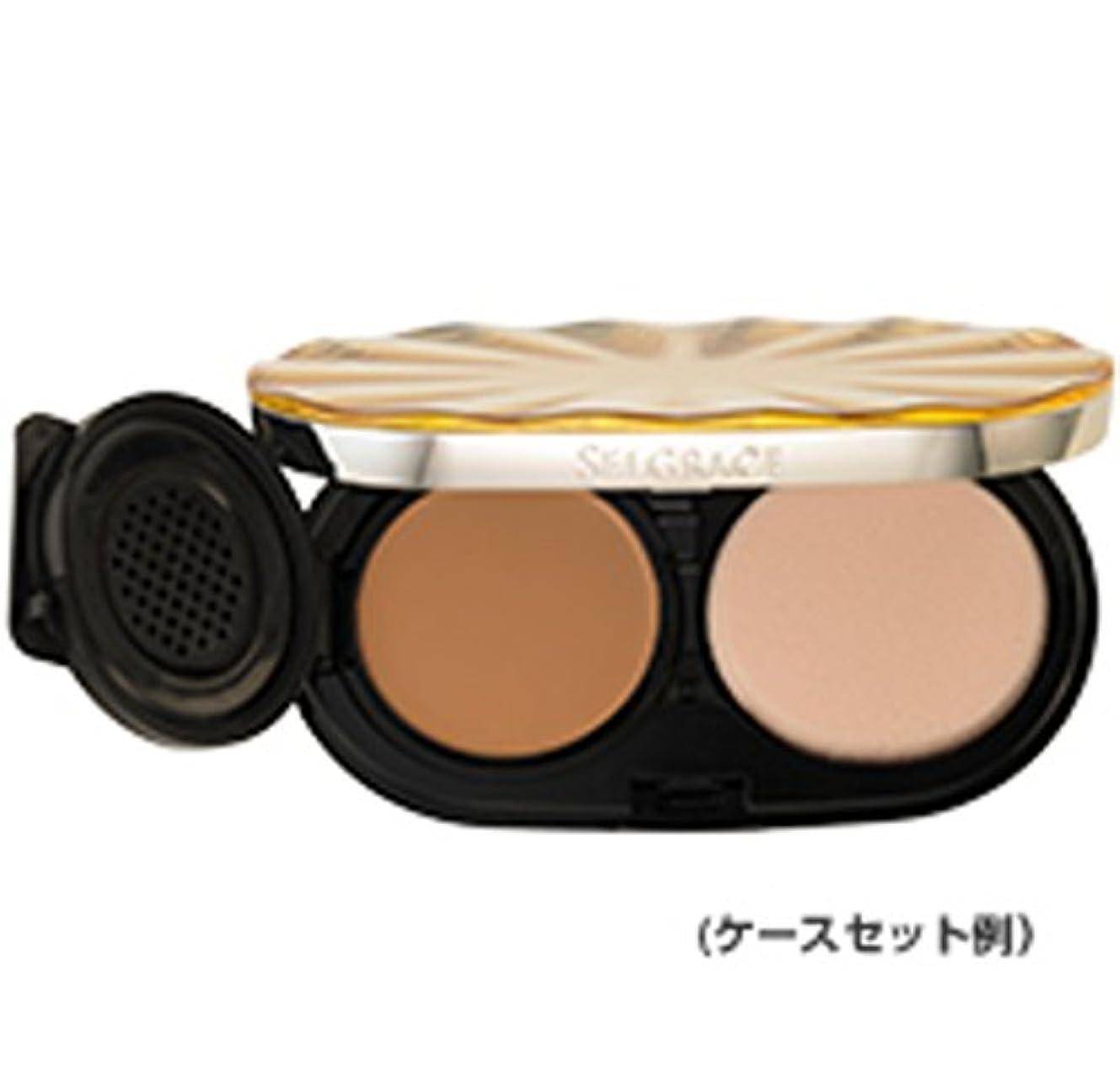 さわやか気まぐれなオーバーランナリス化粧品 セルグレース ベースインパクト ファンデーション 130 ライトピンクベージュ レフィル (スポンジ付き)