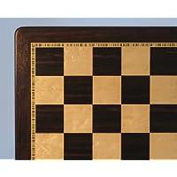 WW Chess 21-inch Ebony and Brdseye Maple Board