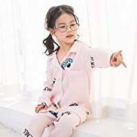 Ladies Dressing Gown Pajamas 2019 New Children's Cartoon Cute Cotton Pajamas air Cotton Tracksuit Boys and Girls Bathrobe (Color : Yellow, Size : 100cm) Housecoat Loungewear Bathrobe