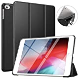ATiC NEW iPad mini 5 7.9 2019 / iPad mini 4 2015 タブレット専用 保護カバー 開閉式 三つ折薄型 TPU素材 スタンドケース オートスリープ機能付き BLACK(iPad Mini 3/2/1に適応できない)