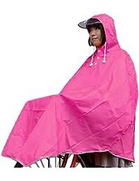 カゴも 濡れない 防水 加工 サイクル レインポンチョ ピンク
